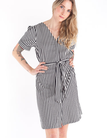 Just Female Bodil Stripe Dress Black Stripe