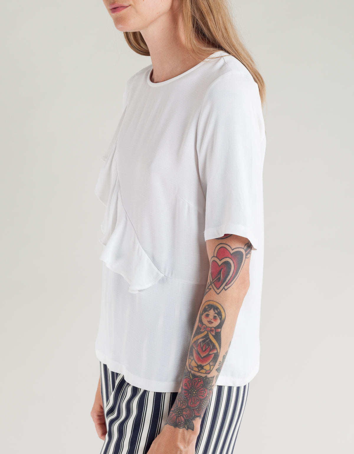 Just Female Cecilie Blouse Off White