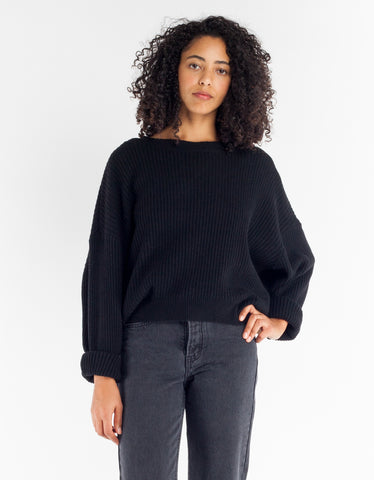 Just Female Corn Knit Black