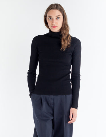 Just Female Fuju Rollneck Knit Black