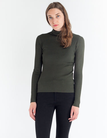 Just Female Fuju Rollneck Knit Forest Night