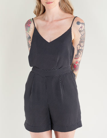 Just Female Hiro Singlet Black Mini Dot