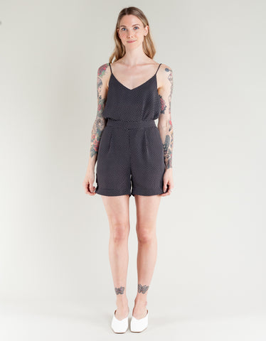 Just Female Hiro Shorts Black Mini Dot