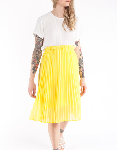 Just Female Moe Midi Skirt Buttercup