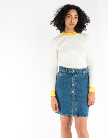 Just Female Pauline Skirt Mid Blue Denim