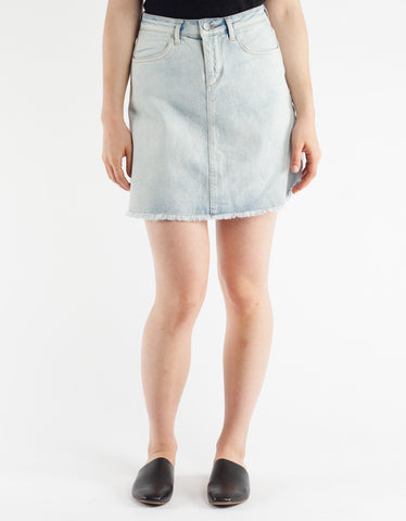 Just Female Tom Denim Skirt Bleached Denim