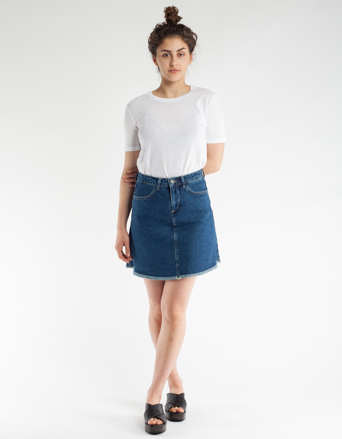 Just Female Tom Denim Skirt Blue Rinse