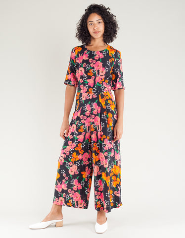 Just Female Valentina Jumpsuit Camellias Print