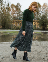 Just Female Christie Skirt Green Snake Print