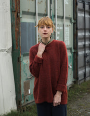 Just Female Code Knit Red Ochre