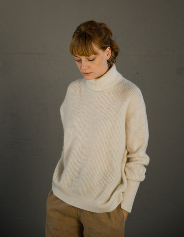 Just Female Eika Knit Antique White