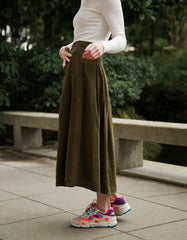 Just Female Jena Skirt Dark Olive