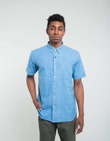 Kardo Don Short Sleeve Chambray Shirt Sky