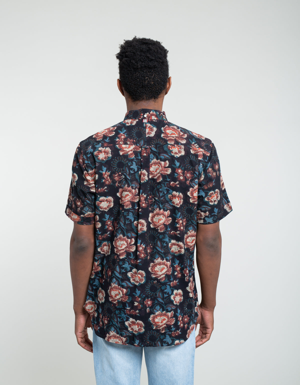 Kardo Sai Short Sleeve Shirt Purple Floral