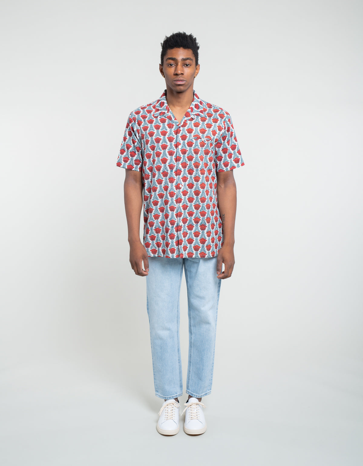 Kardo Kendrick Short Sleeve Shirt Red Floral