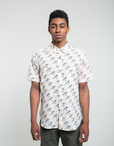 Kardo Sai Short Sleeve Shirt Ecru Bird