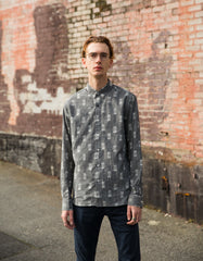 Kardo Carlos Long Sleeve Shirt Ikat Grey