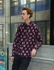 Kardo Ryan Long Sleeve Shirt Burgundy