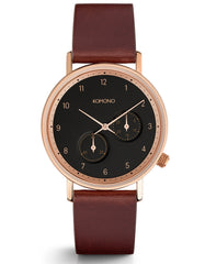 Komono Walther Crafted Watch Burgundy - Still Life - 1