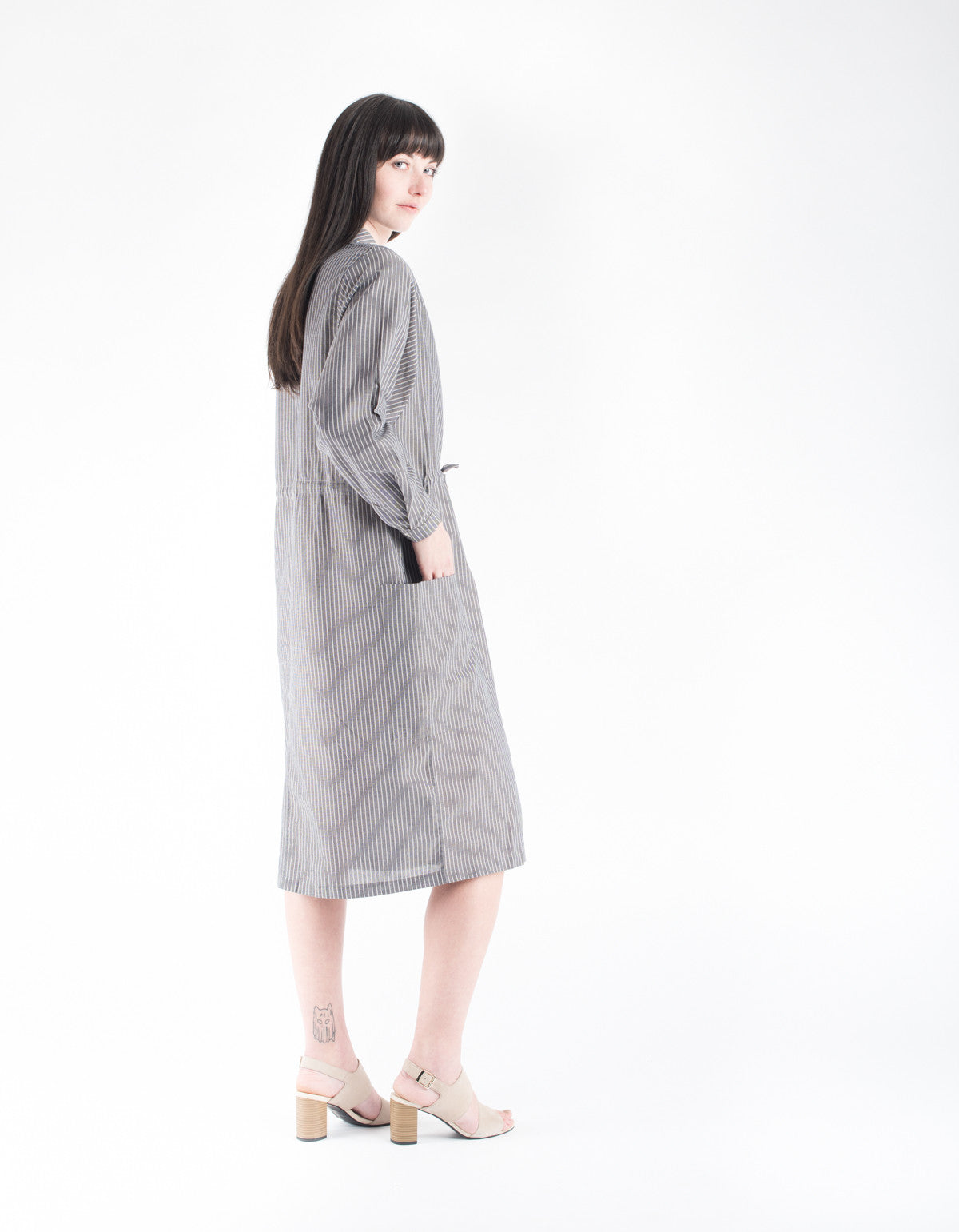 Kowtow Detour Shirt Dress Chambray