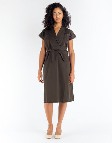 Kowtow Hunter Dress Dark Moss