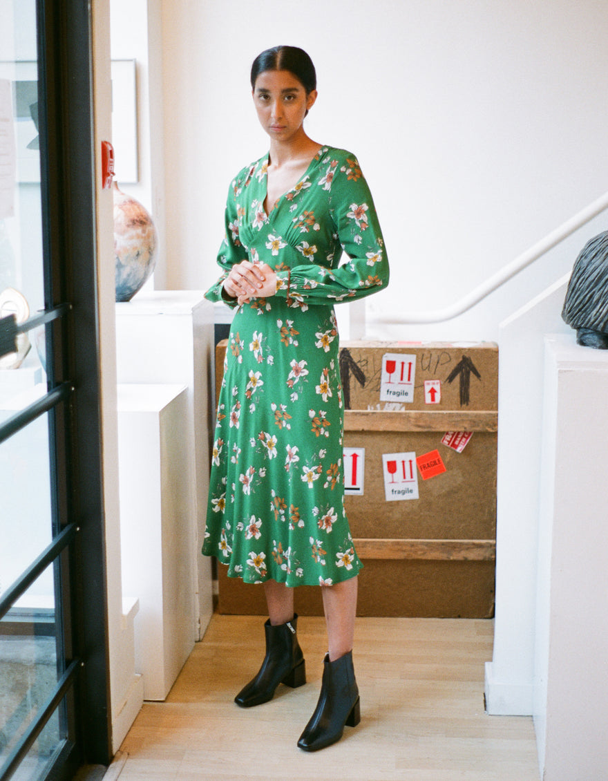 La Petite Francaise Romuald Dress Green