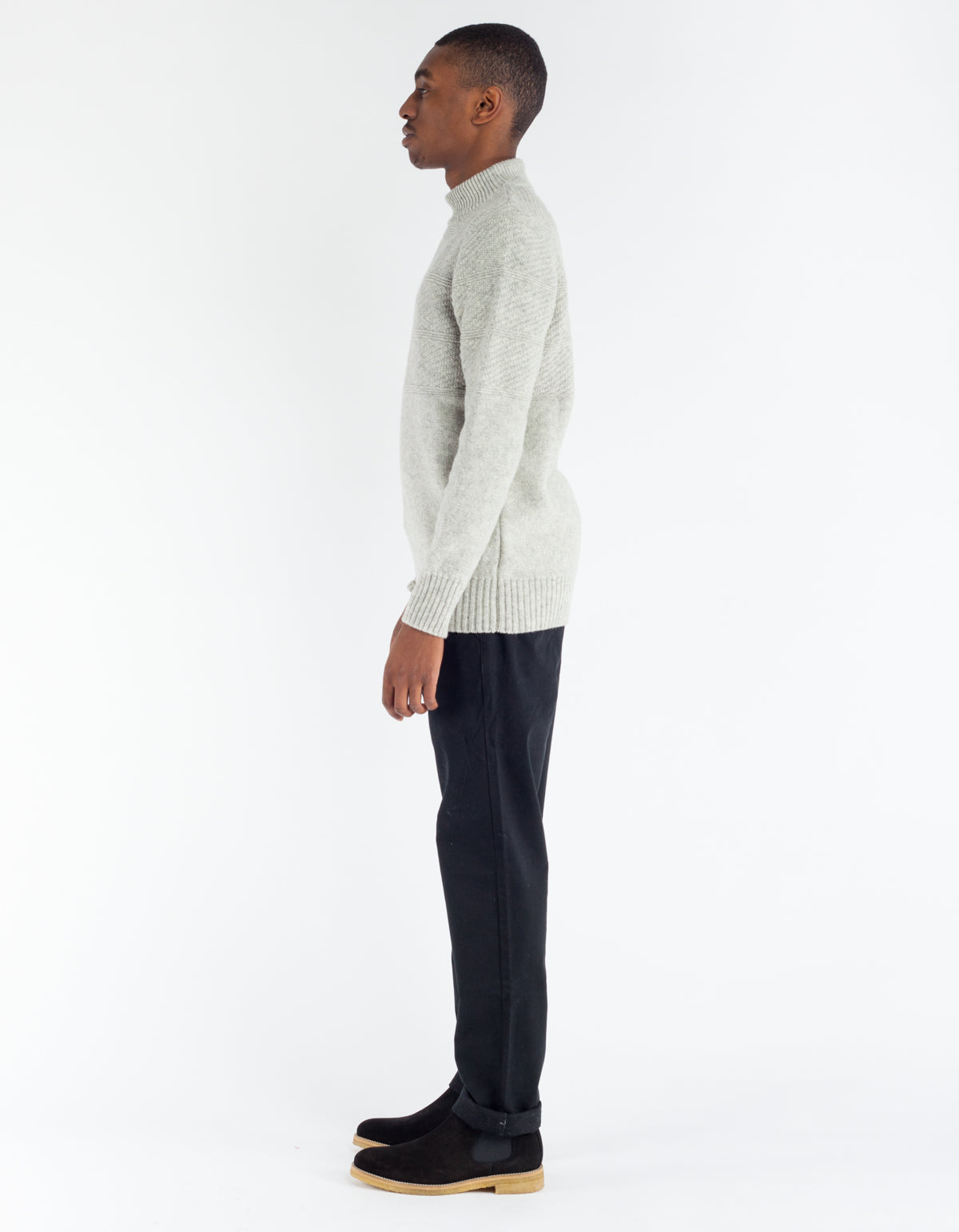 La Paz Joost Sailor Sweater Grey Mesc
