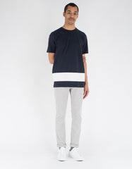 La Paz Neves T-Shirt Navy White Stripe