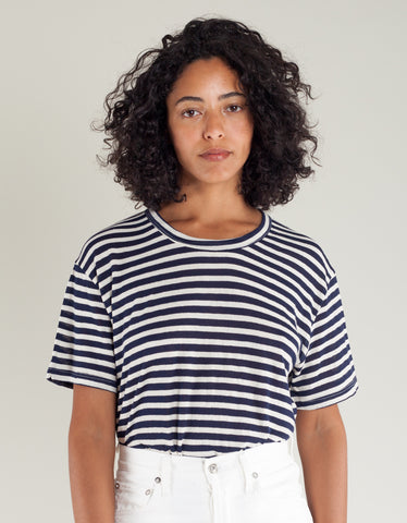 Lacausa Coast Tee Navy Stripe