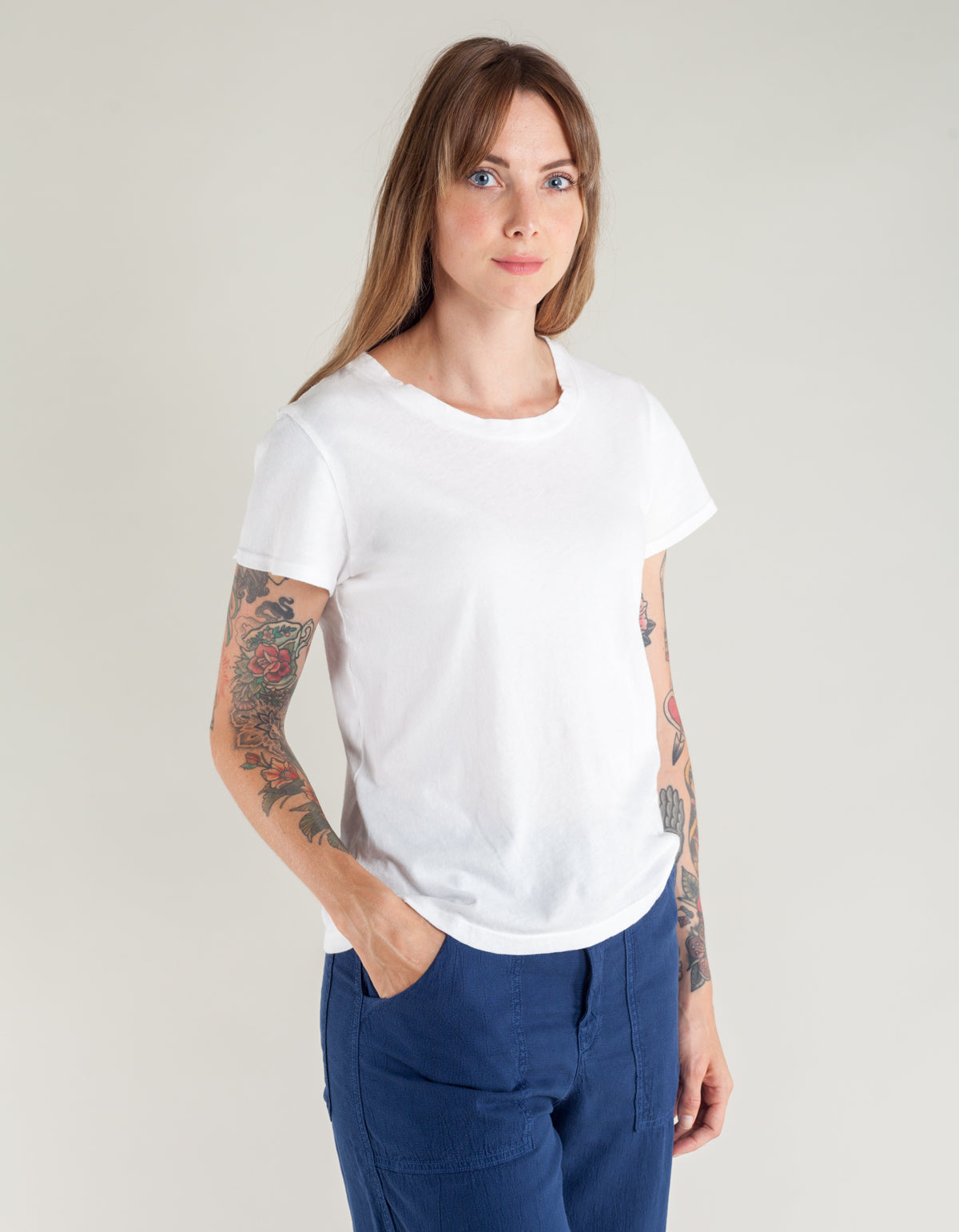 Lacausa Luxe Frank Tee Whitewash