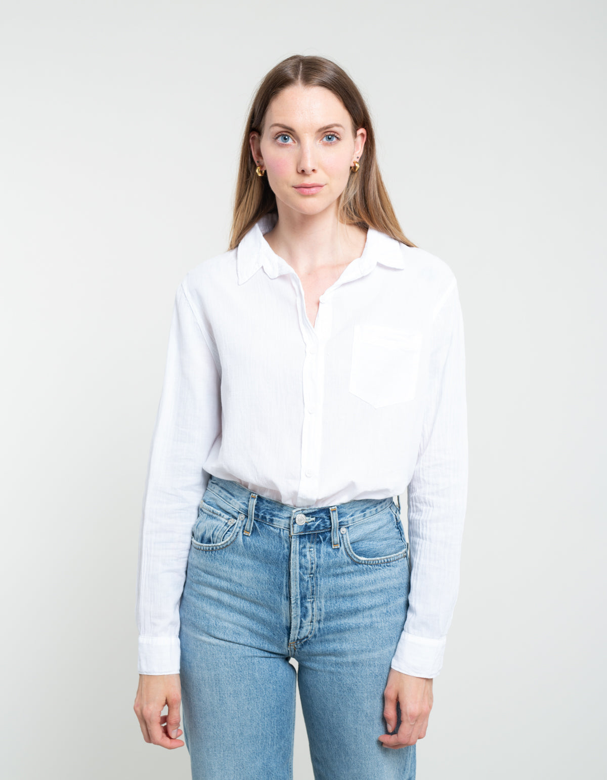 Lacausa Nash Super Fine Button Up Whitewash
