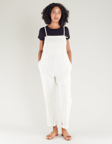 Lacausa Raw Silk Overalls Natural