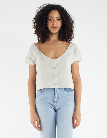 Lacausa Reversible Linen Top Bowie