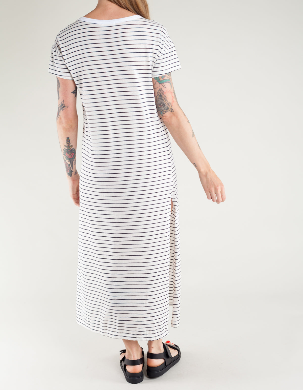 Lacausa Sandy Dress Classic Stripe