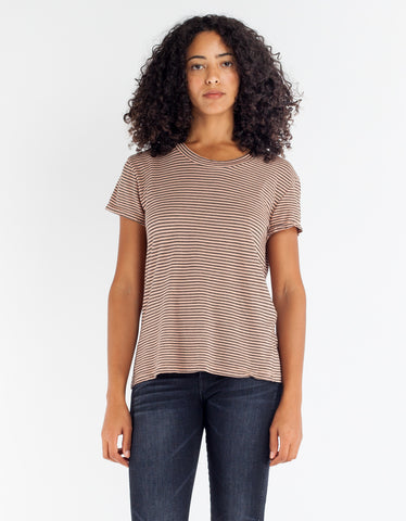 Lacausa Sawyer Tee Rosewood
