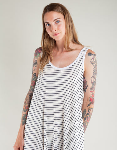 Lacausa Striped Sunday Dress Classic Stripe