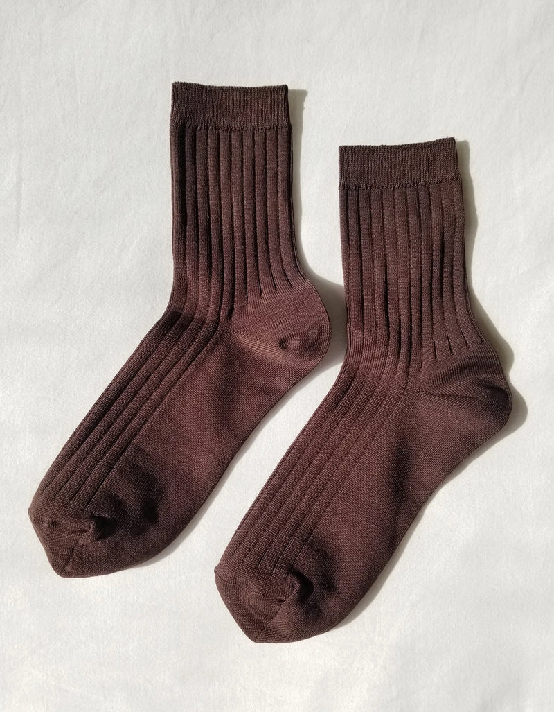 Le Bon Shoppe Her Socks (MC Cotton) Coffee