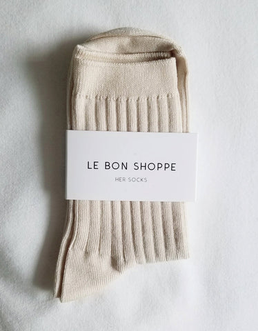 Le Bon Shoppe Solid Socks Porcelain