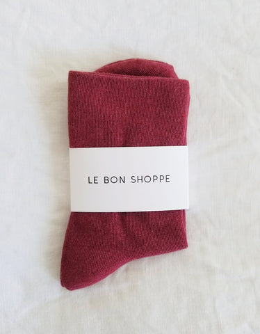 Le Bon Shoppe Sneaker Socks Brick