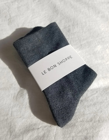 Le Bon Shoppe Sneaker Socks Heather Black