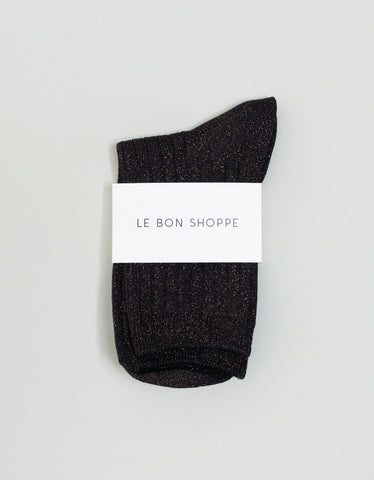 Le Bon Shoppe Lurex Socks Copper Black
