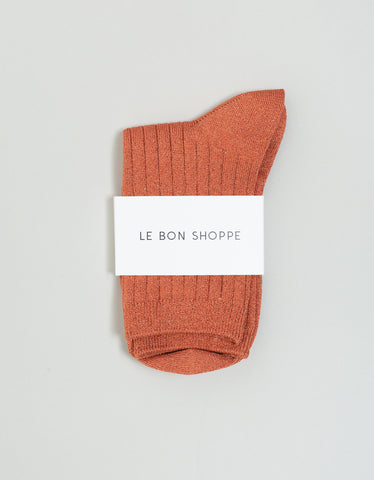 Le Bon Shoppe Lurex Socks Sunset