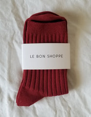 Le Bon Shoppe Her Socks Bordeaux