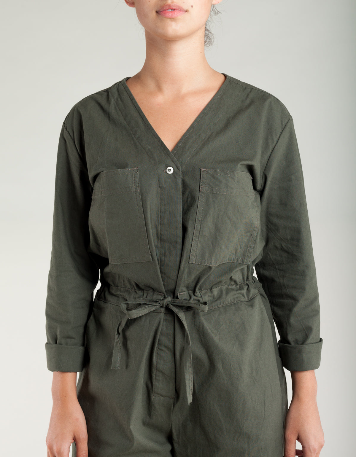 Micaela Greg Tie Coverall Olive