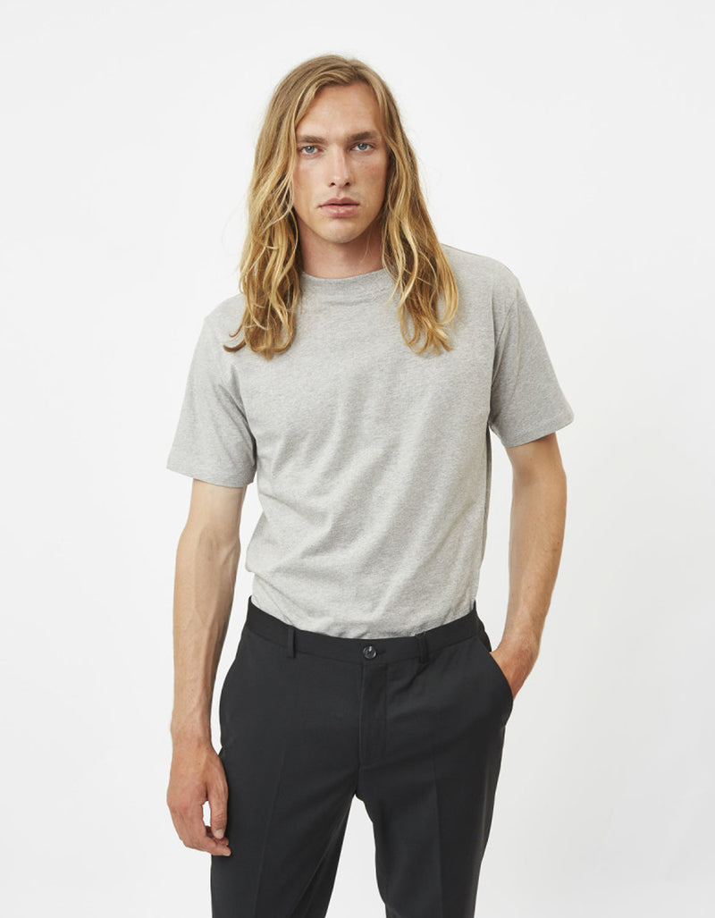 Minimum Aarhus Tee in Light Grey Melange