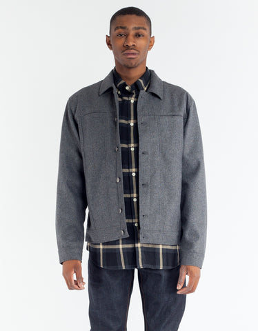 Minimum Akio Lightweight Jacket Grey Melange