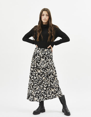 Minimum Albi Midi Skirt Black