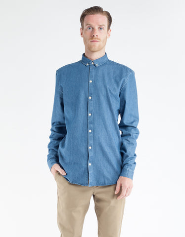 Minimum Barden Shirt Medium Blue