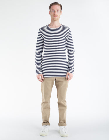 Minimum Coral Long Sleeve Tee Dark Navy