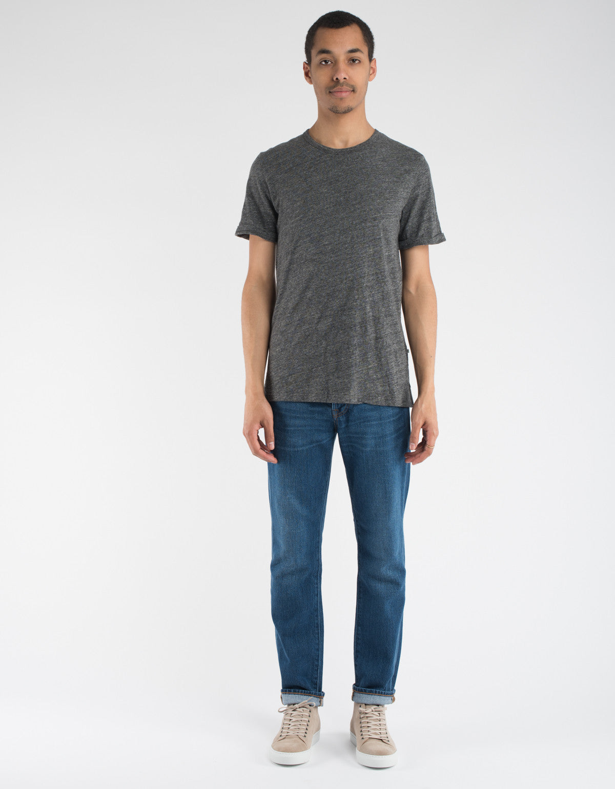 Minimum Delta Tee Dark Grey Melange
